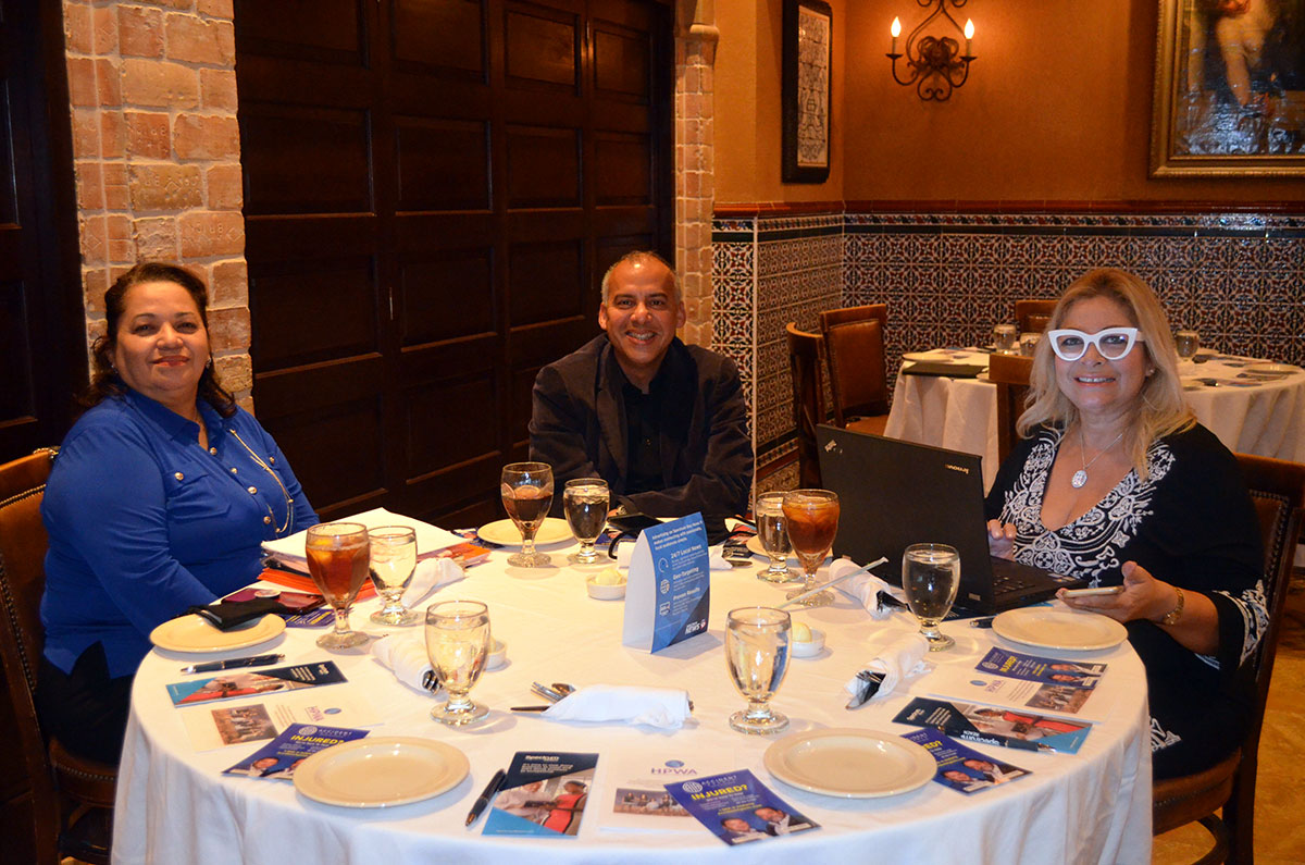Accident Agents Sponsors HPWA Luncheon in FL